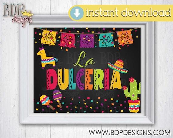 PRINTABLE INSTANT DOWNLOAD La Dulceria Bridal Shower