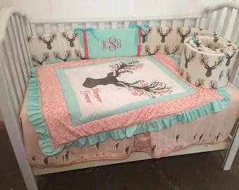 girl bedding etsy