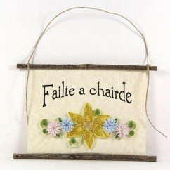 A Chairde Indoor Hanging Chair For Bedroom Failte Signs Etsy Irish Welcome Friends Paper Quilled Sign 3d Banner Yellow Blue Purple Decor Gift Rustic Wall Art