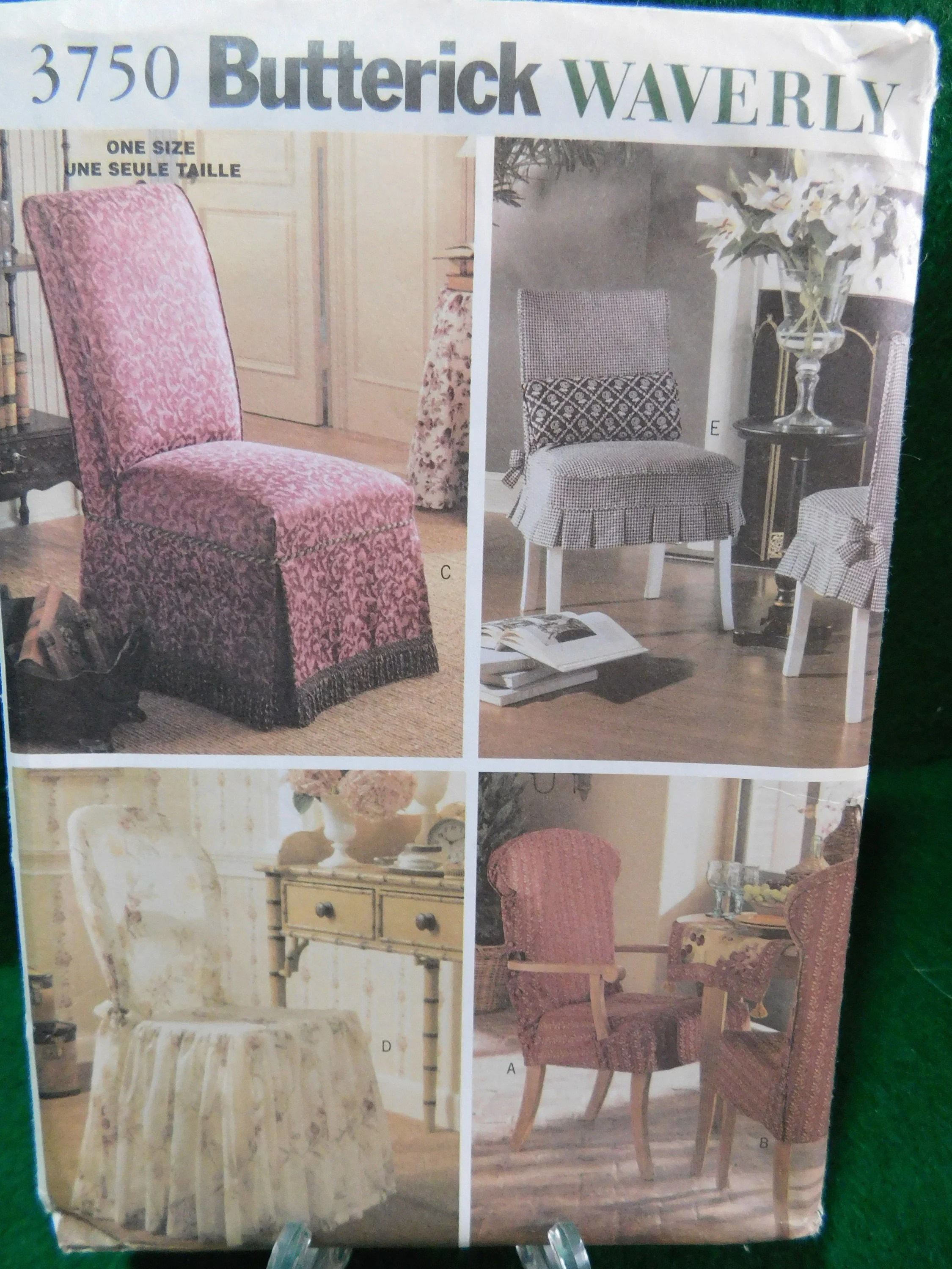 Chair Cover Patterns Chair Cover Pattern Butterick 3750