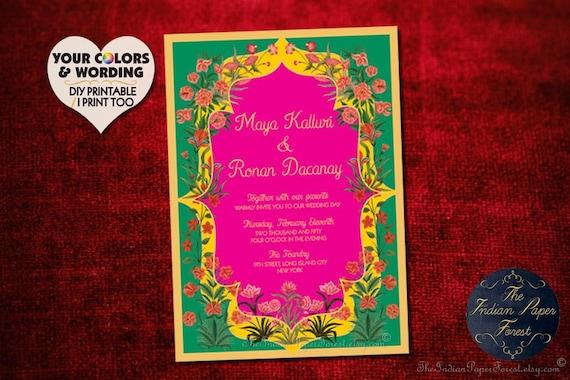 garden of persia indian wedding card indian wedding invitation card set tamil punjabi sikh muslim walima arab reception uk deposit payment