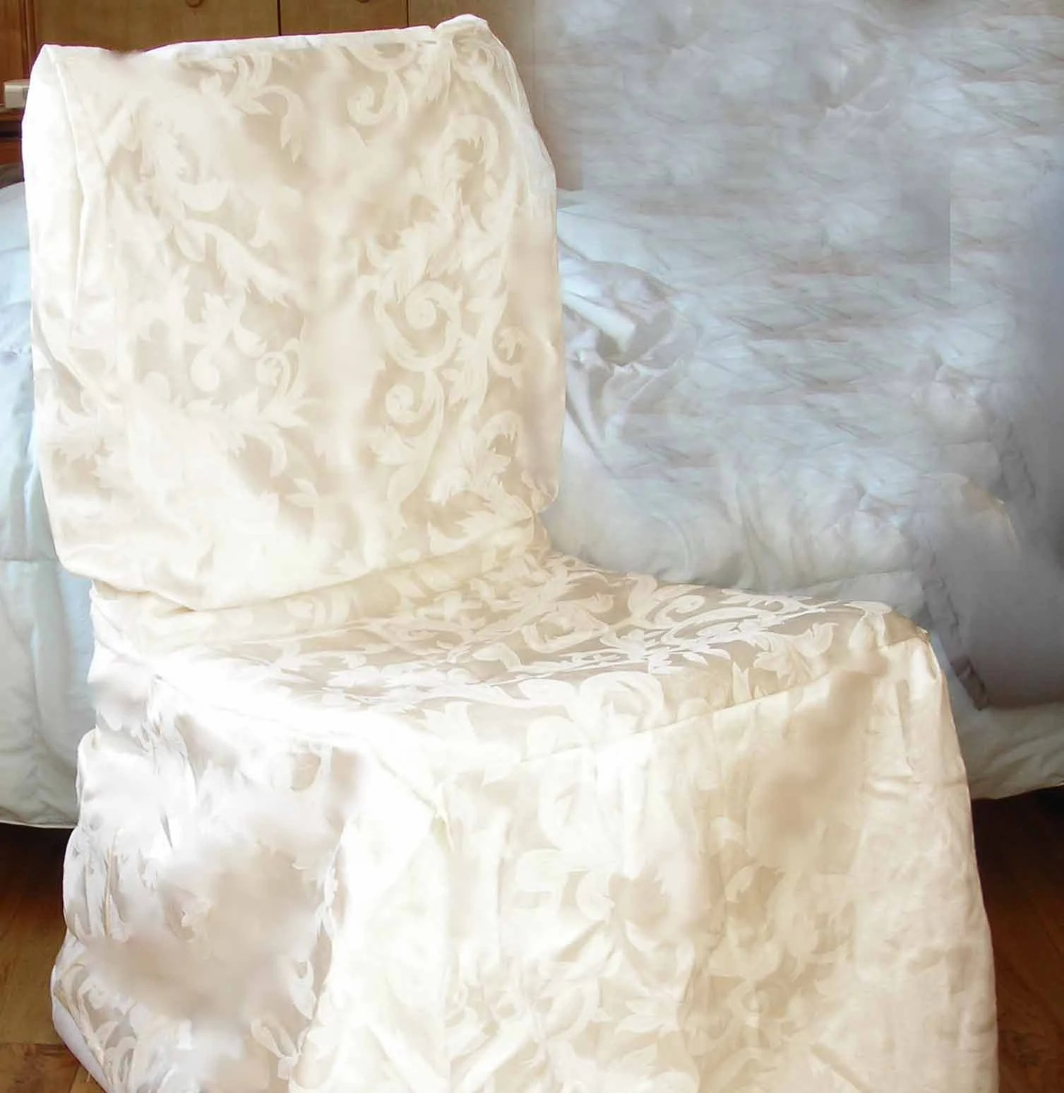 cream chair covers for weddings wheel on rent in pune 10 dining room satin brocade ivory heavy