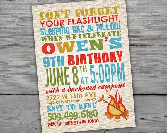 camping invitation camping invitations