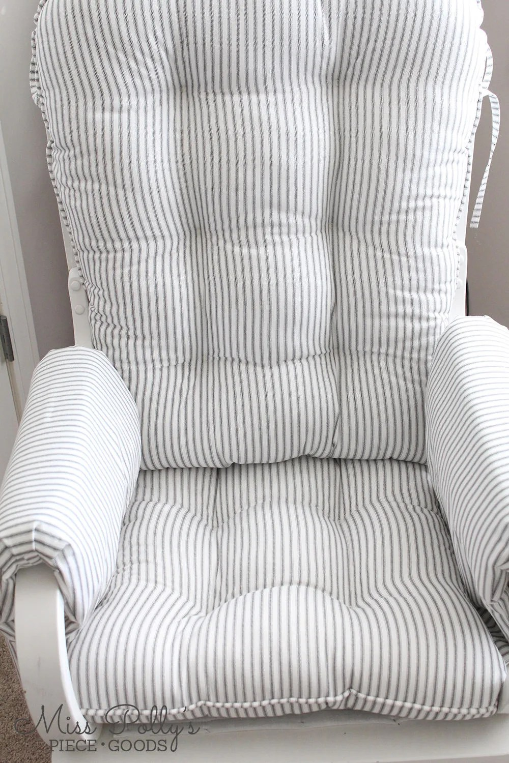 cushions for glider rocking chairs office chair posture helper rocker etsy with arm rest covers