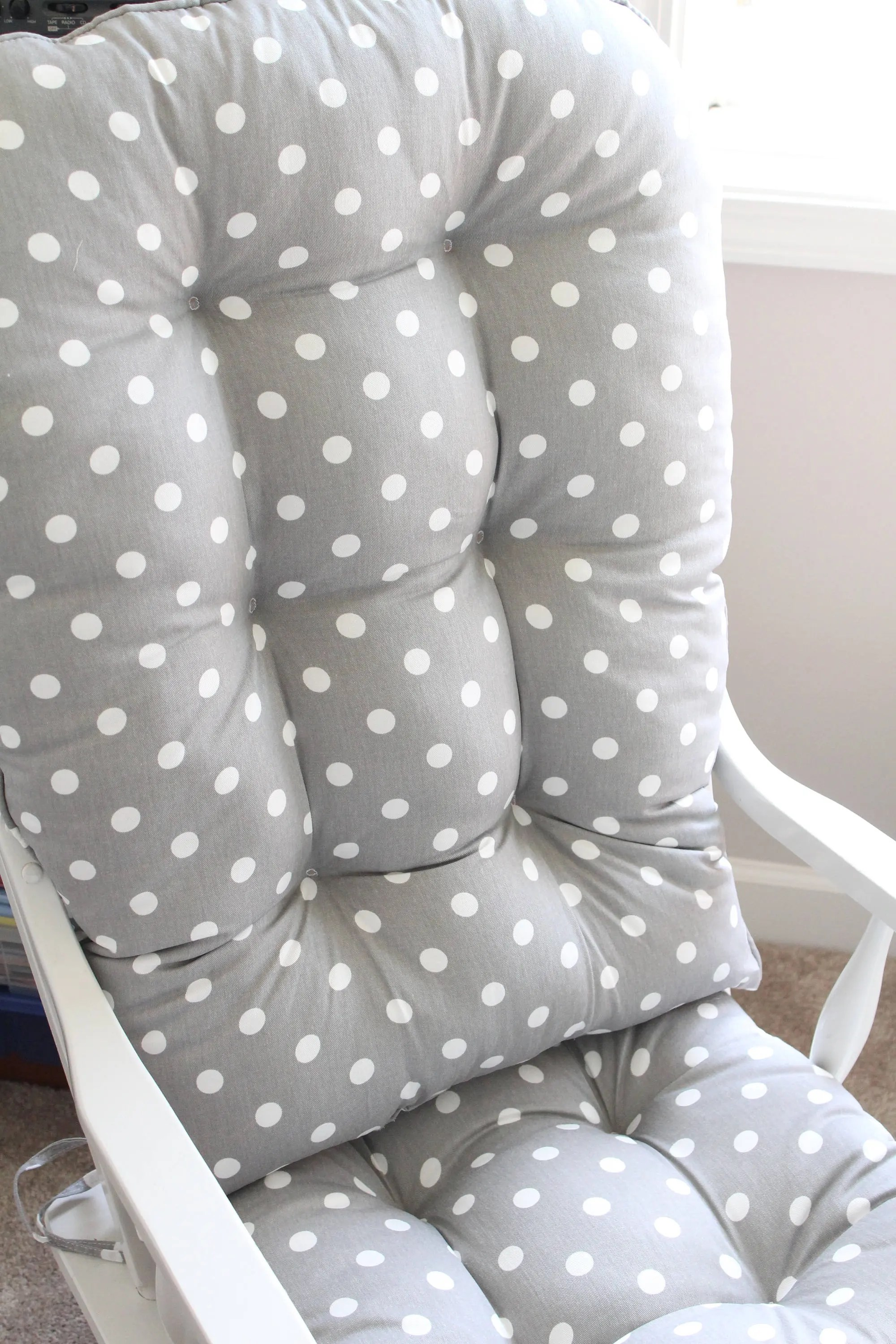 polka dot rocking chair cushions rental brooklyn glider rocker etsy image 0