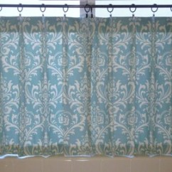 Kitchen Cafe Curtains Table Island Etsy Ozborne Curtain Damask