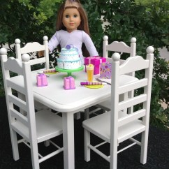 18 Doll Table And Chairs Banquet Chair Covers Buy American Girl 4 Set For Inch Dolls Etsy Furniture