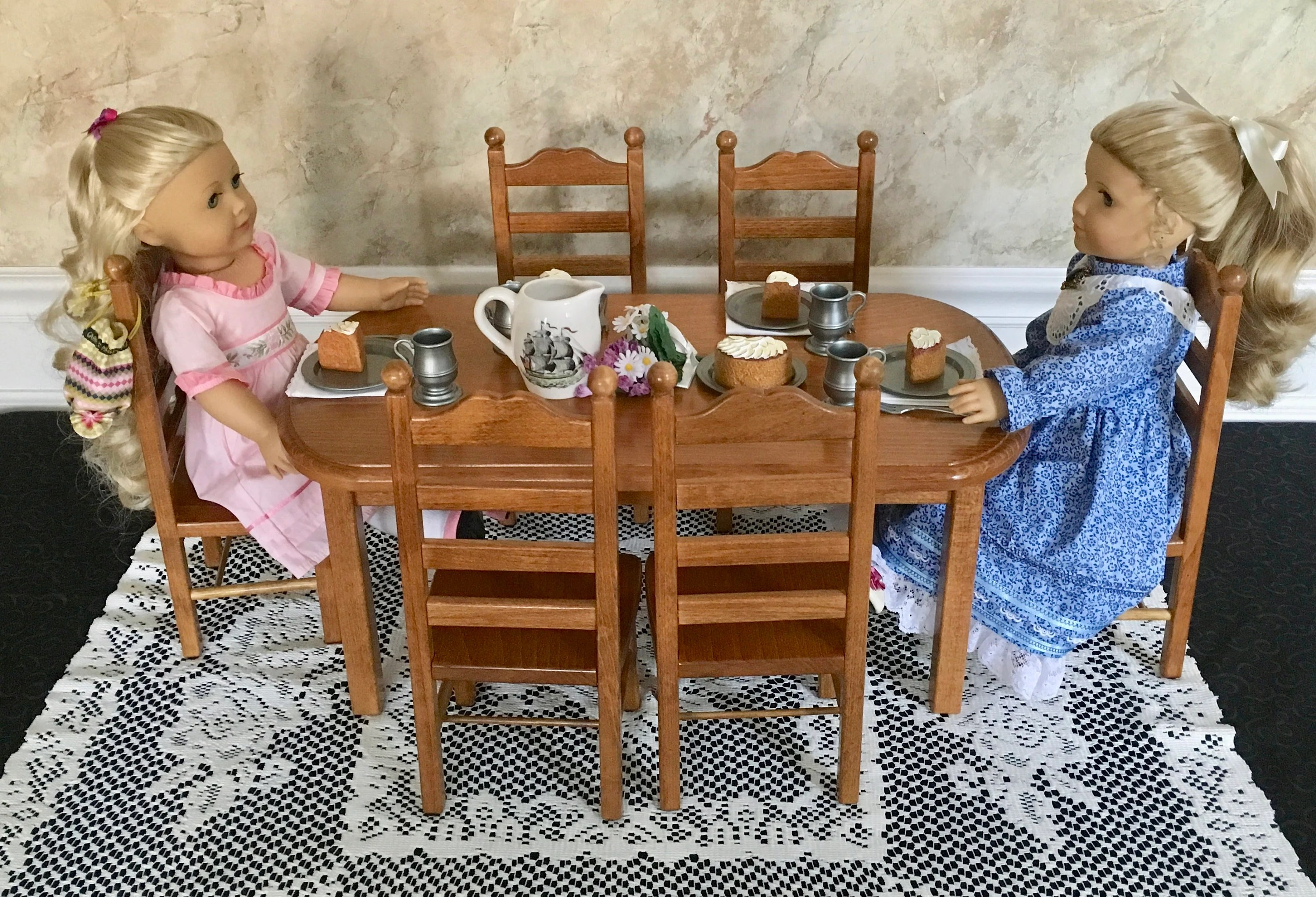 american girl doll chairs rocking chair or glider for nursing furniture stained table six 18 etsy image 0