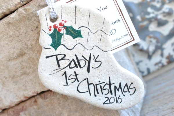 Baby' Christmas Salt Dough Personalized Ornament