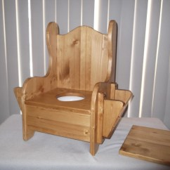 Wooden Potty Chair Outdoor Cushions Etsy W Tp Holder And Book Rack