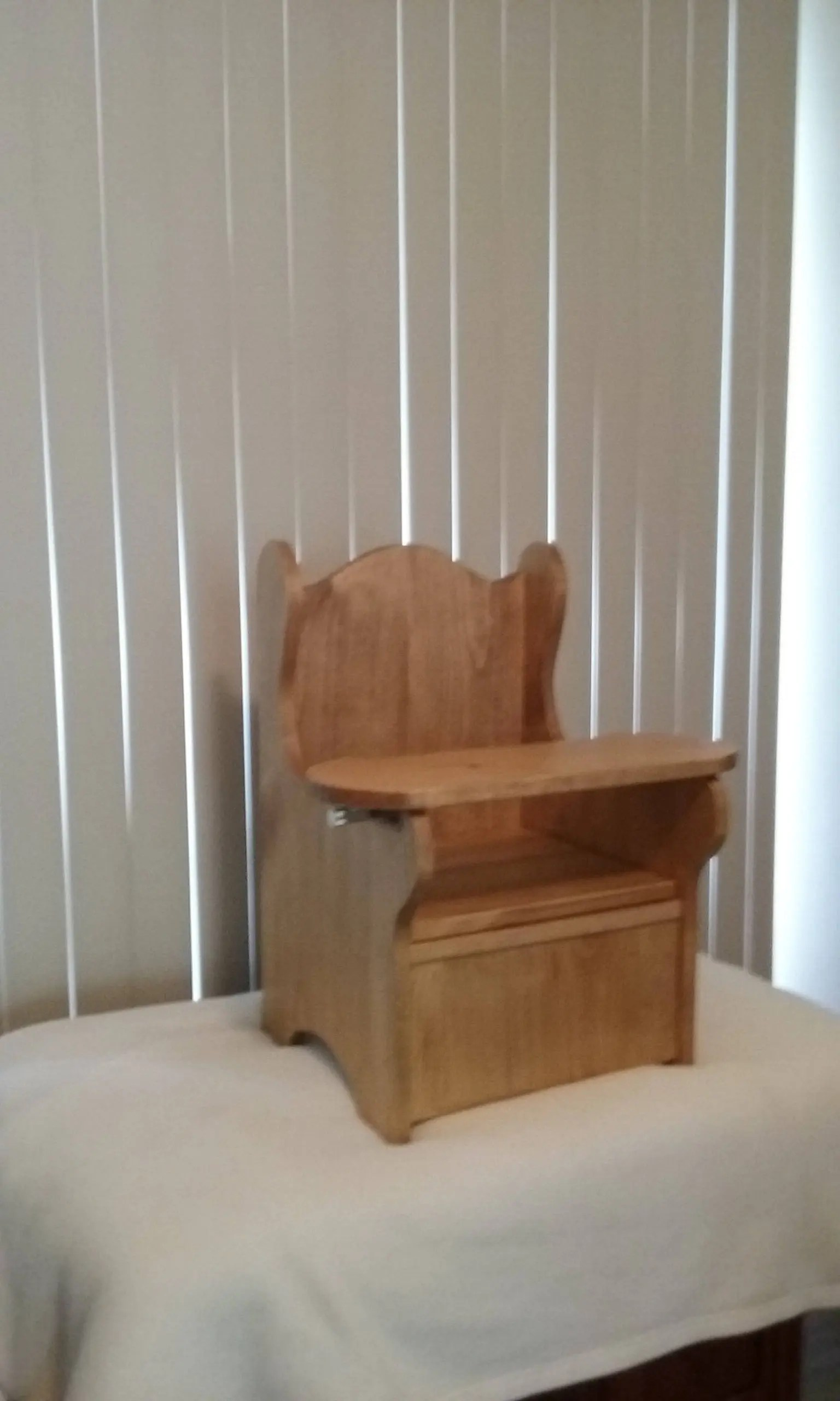 wooden potty chair face down beach large with tray etsy image 0