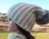 Ready to Ship: Knitted Chunky Slouchy Oversize Beanie Hat