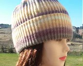Ready to Ship: Multicolored Wool Slouchy Beanie Hat