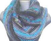 Ready to ship: Knitted Chunky Bulky Dragon's Tail Scarf