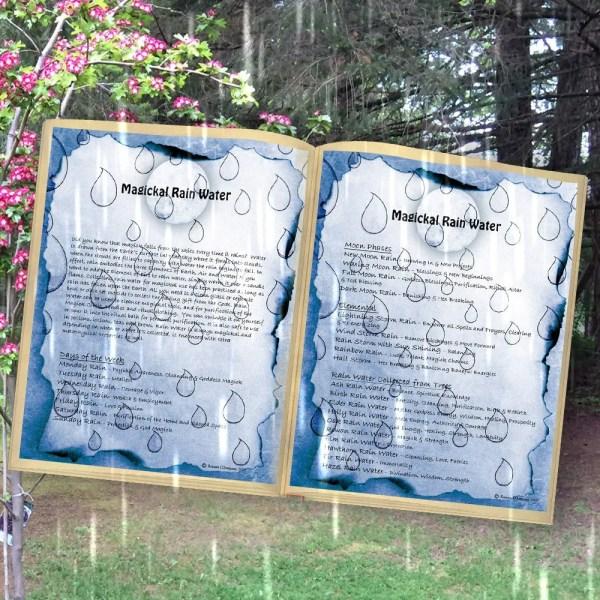 RAIN WATER MAGICK Digital Download Book of Shadows