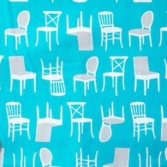 Fabrics For Kitchen Chairs Wedding Bows Chair Fabric Etsy Perfectly Perched In Turquoise Laurie Wisbrun Robert Kaufman 100 Cotton Awn 12851 81