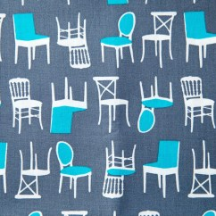Fabrics For Kitchen Chairs Charleston Chair And A Half Fabric Etsy Perfectly Perched In Steel Laurie Wisbrun Robert Kaufman 100 Cotton Awn 12851 185