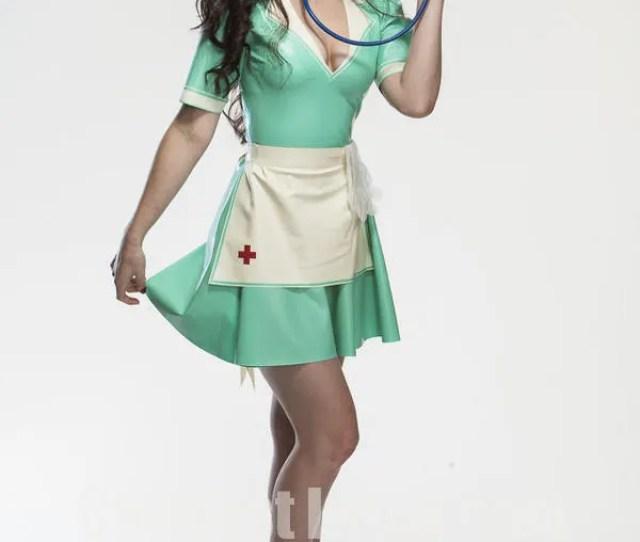 Latex Vintage Nurse Dress