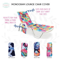 Beach Towels With Pocket For Lounge Chair Wheelchair Door Width Towel Etsy Monogram Terry Cover Pool Gift