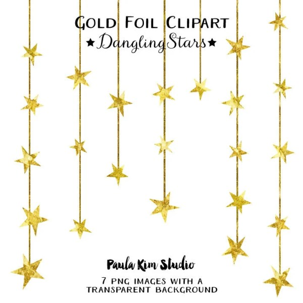 dangling gold star clipart