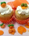 Mix Fondant Autumn Cupcakes Toppers Orange Green Leaves Made Etsy