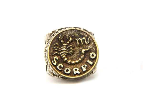 Scorpio Astrology Zodiac Ring Ring-scorpio