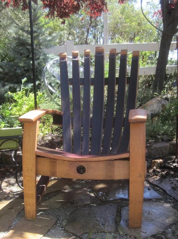 barrel stave adirondack chair plans adams plastic chairs wine etsy image 0