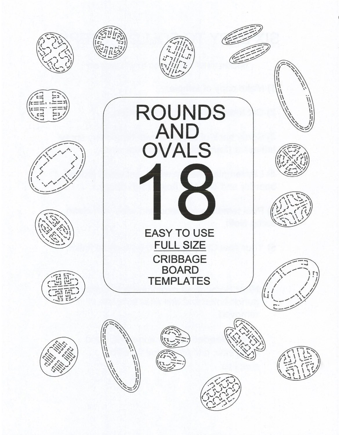 Round Cribbage Board Template