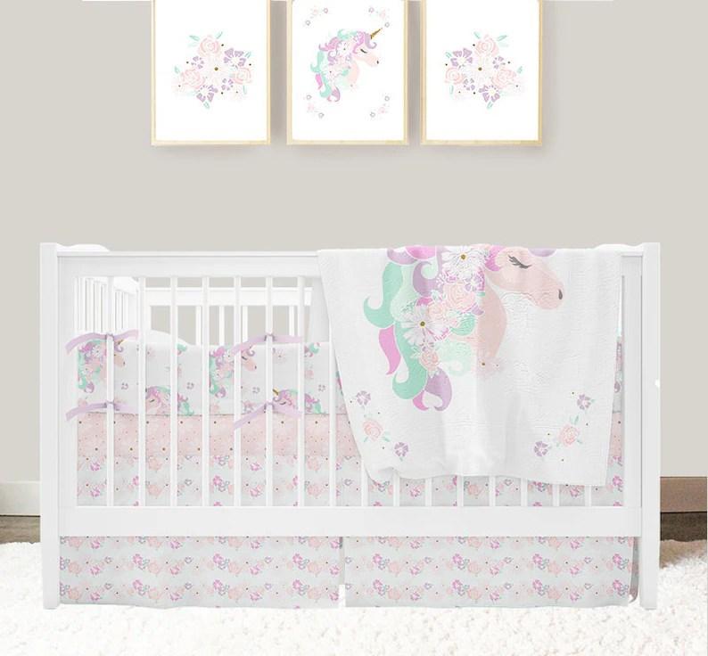 unicorn nursery bedding baby