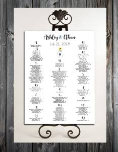 Gallery photo also mason jar with sunflower seating chart for wedding table rh creatingpapermemories