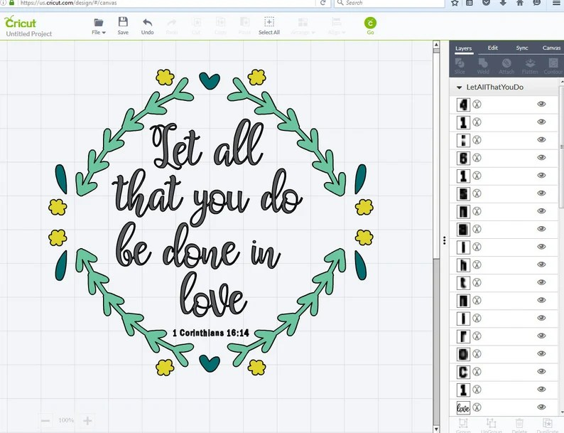 Download Let All That You Do Be Done in Love SVG pdf png / 1 | Etsy
