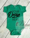 Blank Bodysuit Mockup Kelly Green Baby Bodysuit Shirt Mockup Etsy