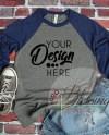 Raglan Shirt Mockup Bella Canvas 3200 Baseball Tshirt Gray Etsy