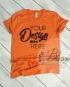 Bella Canvas Mockup Tshirt Mockup Burnt Orange 3001 Unisex Etsy