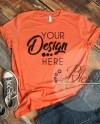 Heather Orange Bella Canvas Mockup Tshirt Mockup 3001 Unisex Etsy