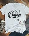 Bella Canvas Mockup White Slub V Neck Tshirt 3005 Vneck Shirt Etsy