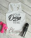 Womens Tank Top Mockup Next Level 1533 White Racerback Tank Etsy