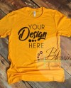 Gold T Shirt Bella Canvas Mockup 3001 Gold Unisex Shirt Gold T Etsy