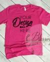 Berry T Shirt Bella Canvas Mockup 3001 Pink Berry Unisex Shirt Etsy