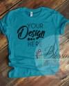 Aqua Tshirt Bella Canvas Mockup 3001 Aqua Unisex Shirt Aqua T Etsy