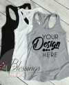 Womens Tank Top Mockup Next Level 1533 White Black Gray Etsy