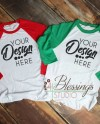 Raglan Shirt Mockup Bella Canvas 3200 Baseball Tshirt Red Etsy