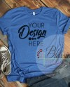 Heather True Royal Bella Canvas Mockup Tshirt Mockup 3001 Etsy