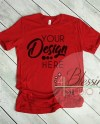 Red T Shirt Bella Canvas Mockup 3001 Canvas Red Unisex Shirt Etsy
