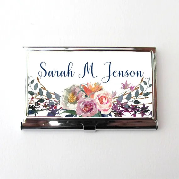 Personalized Business Card Case from AllAboutYouCreations