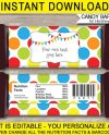 Polkadot Candy Bar Wrappers Birthday Party Favors Etsy