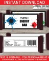 Paintball Party Candy Bar Wrappers Party Favors Chocolate Etsy