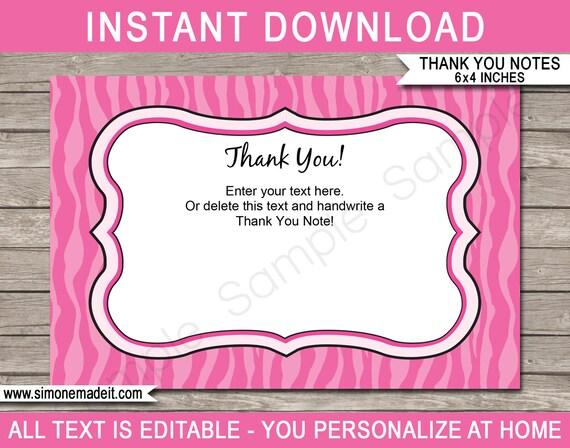 pink zebra thank you