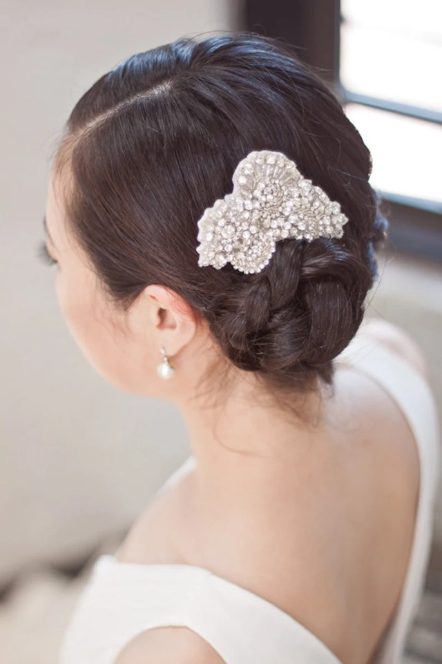 rhinestone hair clip, bridal hair clip, wedding hair accessory, bridal hair comb, bride hair accessory, bridal hair accessories - sydney