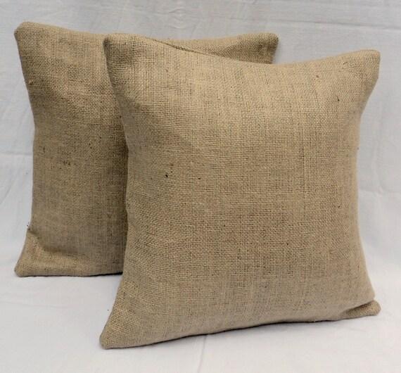 burlap pillow covers set of 2 26x26 or 28x28 burlap euro shams lined burlap pillow covers rustic home decor neutral pillow cover